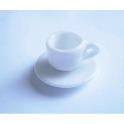 5 tasses + 5 assiettes en porcelaine