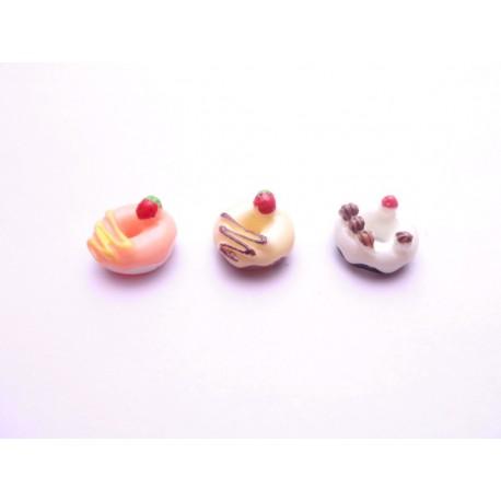 3 cabochons donuts