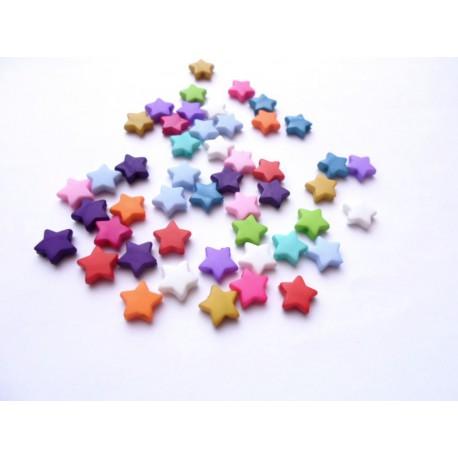 Mix de 50 étoiles acrylique 9mm