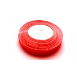 45 mètres de ruban organza 10mm rouge