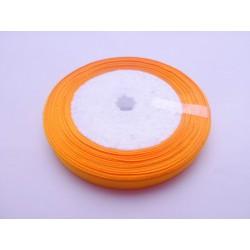 20 mètres de ruban satin 10mm orange