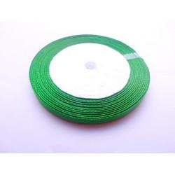 20 mètres de ruban satin 6mm vert