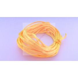 5 mètres de fil satiné queue de rat orange