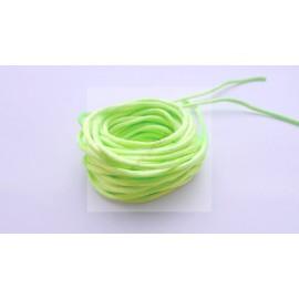 5 mètres de fil satiné queue de rat vert