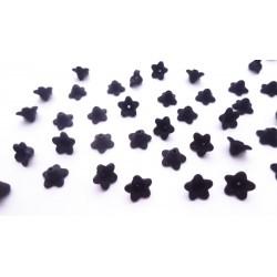 lot de 50 fleurs lucite en acrylique noire