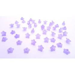 lot de 50 fleurs lucite en acrylique violette