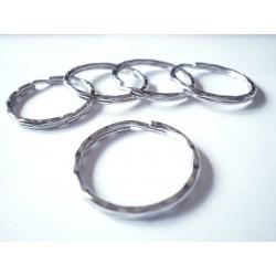 100 anneaux porte clef 25mm