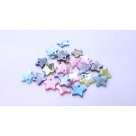 Mix de 25 étoiles sequins en nacre 12mm