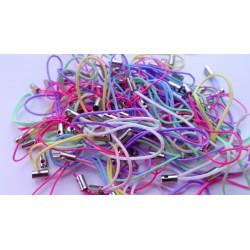 Lot de 100 straps attaches portable pastel