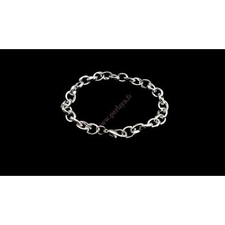 Lot de 5 bracelets chaine en métal argentés