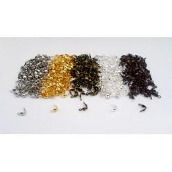 Mixte de 500 cache-noeuds 8mm doré - bronze - argentés - mat - cuivré