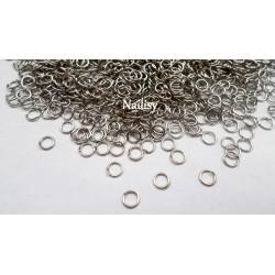 100 anneaux argenté 6mm