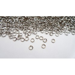 Lot de 1800 anneaux argentés foncé 4mm