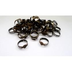 100 supports de bagues bronze