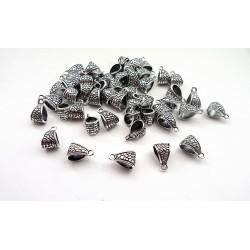 Lot de 50 bélières pour pendentifs argentés