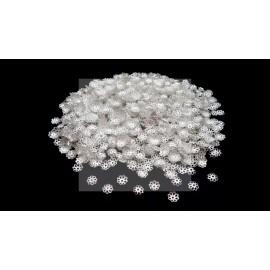 Lot de 2000 calottes bombées 7mm argentées