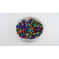 Mix de 300 perles en verre 4mm effet tacheté