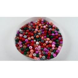Mix de 300 perles en verre 4mm effet filament