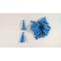 Lot de 20 pompons bleu 3cm