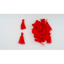 Lot de 20 pompons rouge 3cm
