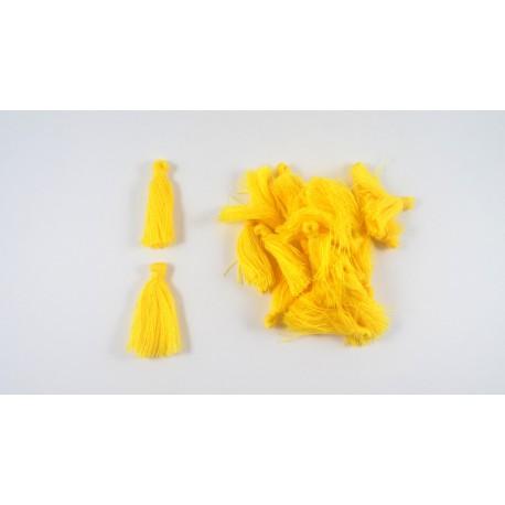 Lot de 20 pompons jaune 3cm