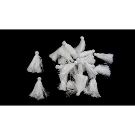 Lot de 20 pompons blanc 3cm