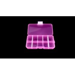 2 boîtes de rangement à 10 compartiments roses 13cm