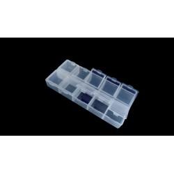 2 boîtes de rangement à 10 compartiments 13cm