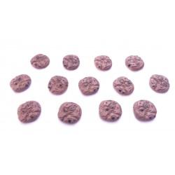 Lot de 3 cabochons en résine cookie au chocolat 2cm