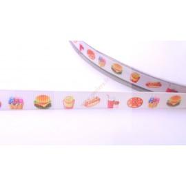 4 mètres de ruban 9mm thème fast food