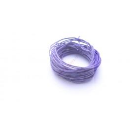 25 mètres de fil coton ciré violet 1mm