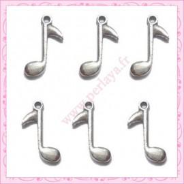 5 grande breloque note de musique