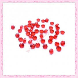50 strass en acrylique 4,5mm rouge