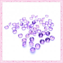 50 strass en acrylique 4,5mm violet