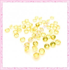 50 strass en acrylique 4,5mm jaune