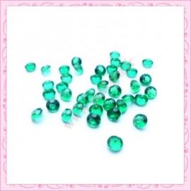 50 strass en acrylique 4,5mm vert