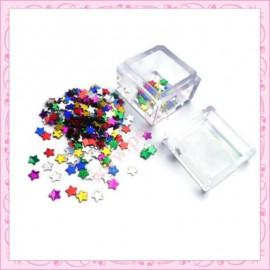 3 boites de petites étoiles 4mm