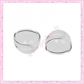 5 globes plats en forme de dôme en verre de 27mm