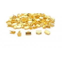 Lot de 50 griffes pour ruban dorés 10mm