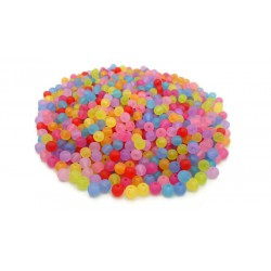 Lot de 1000 perles rondes en acrylique 6mm