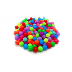 Lot de 200 perles fluos rondes en acrylique 10mm