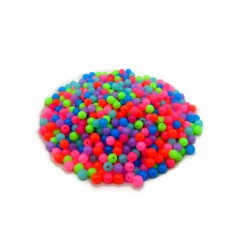 Lot de 1000 perles fluos rondes en acrylique 6mm