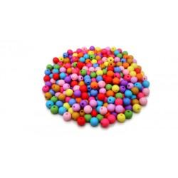 Lot de 300 perles rondes pastel en acrylique 8mm