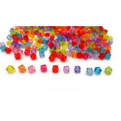 Lot de 500 perles rondes facettés en acrylique 6mm