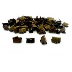 Lot de 200 griffes pour ruban argentés foncés 10mm