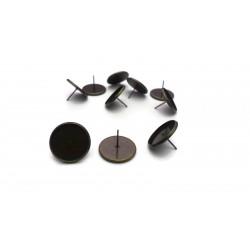 Lot de 20 clous pour boucle d'oreille bronze avec support de 12mm