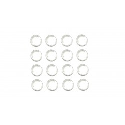 Lot de 50 cabochons en verre 14mm transparent