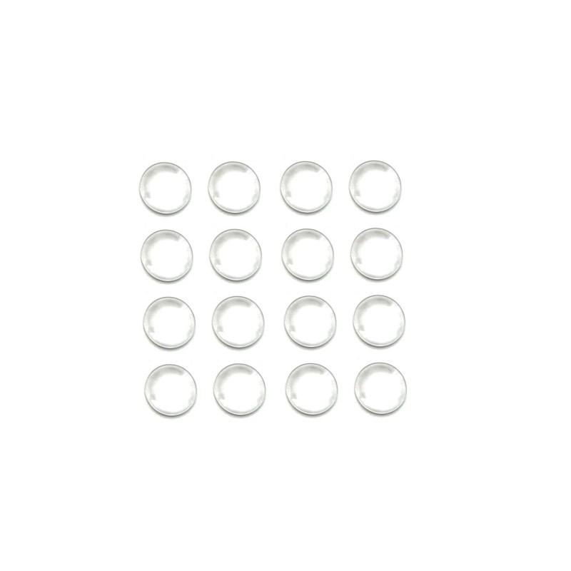Lot de 50 cabochons en verre 16mm transparent