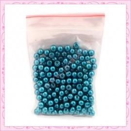 Lot de 200 perles nacrées en verre grise 4mm
