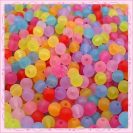 20 perles coeurs jaune en acrylique